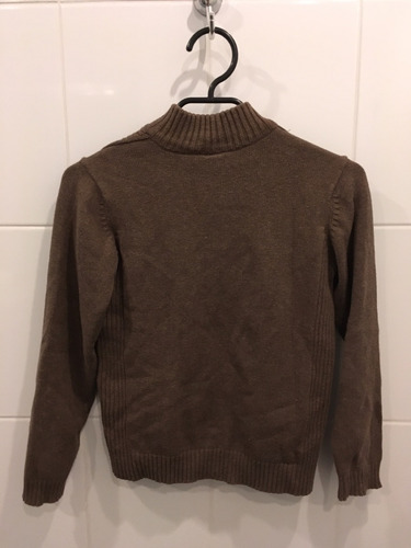 sweater con cierre talla 9-10 zara color cafe