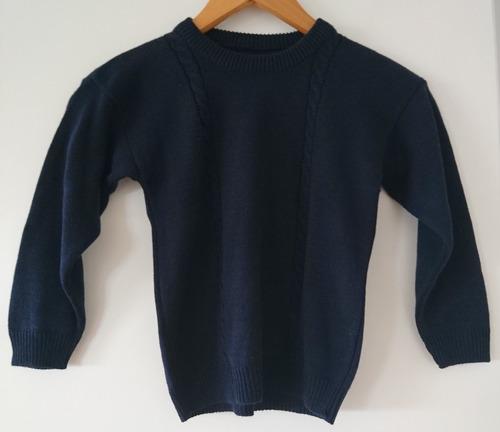 sweater escolar colegio azul talle 8 a 10 años