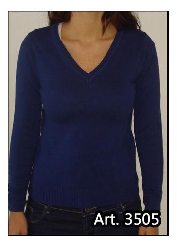 sweater escote en v basico para mujer belvedere