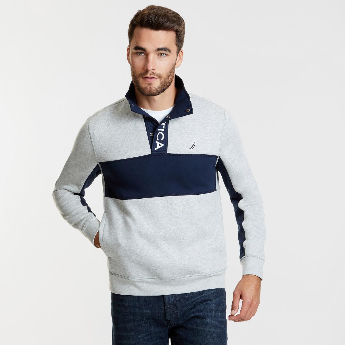 sweater estilo polo nautica manga larga botones classic fit. Cargando zoom. 0d059b4d06b53