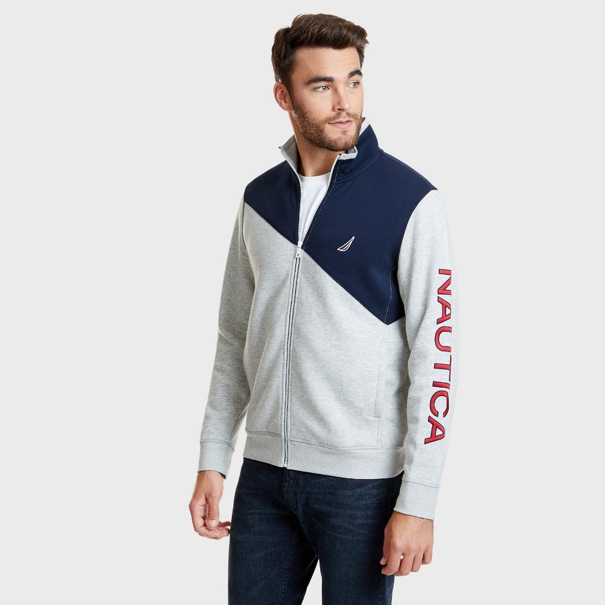 sweater estilo polo nautica manga larga botones classic fits. Cargando zoom. eae733ce52cf6
