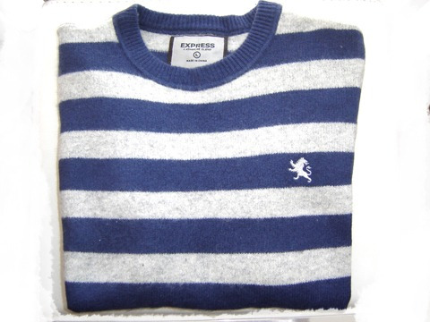 sweater express hombre 100% lana cordero y cahemira talla  l
