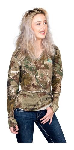 sweater franela dama camuflajeada , camuflada , realtree