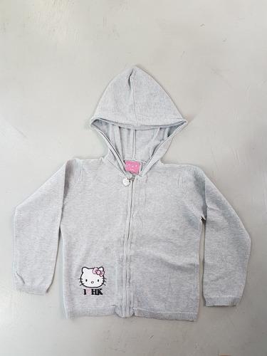 sweater hilo saquito hello kitty t8 gris excelente estado!