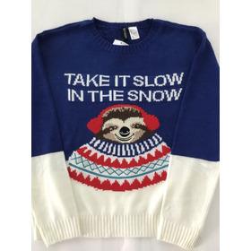 Sweater H&m Muñeco Nieve
