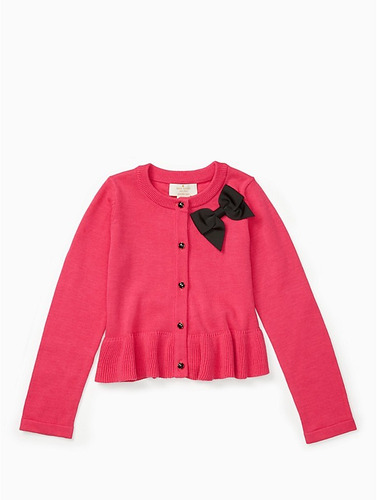 sweater kate spade new york peplum cardigan (niña)
