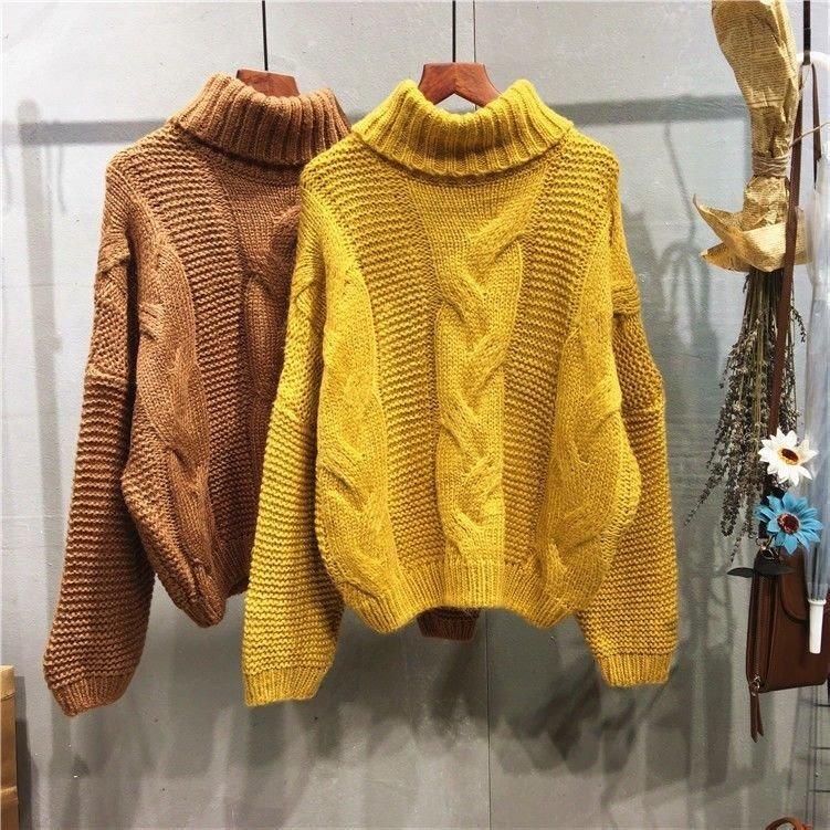 0caed795f9b3b Sweater Lana Gruesa Mostaza Mujer Invierno -   25.900 en Mercado Libre