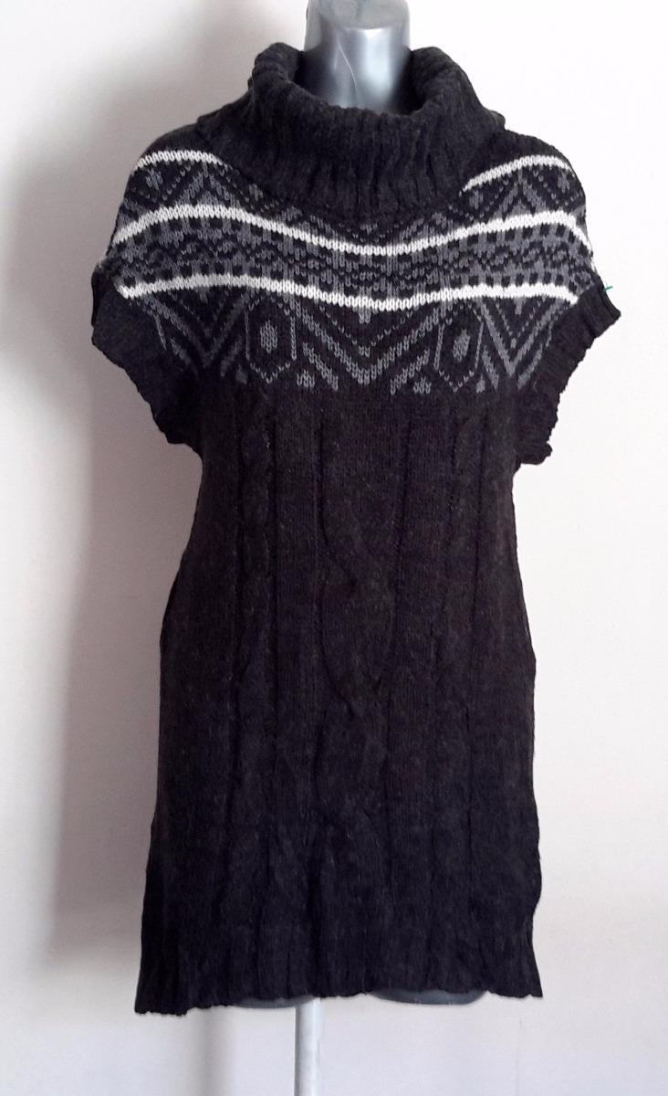 sweater largo chaleco gris blanco y negro stretch tejido m. Cargando zoom. 2fba8eb9f629