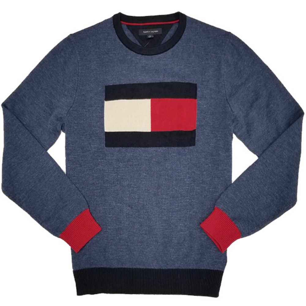 90cf9a3f5a586 Sweater Logo Crew Hombre Tommy Hilfiger To305 -   649.00 en Mercado ...