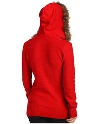 sweater mujer fox manga larga gorro peluche