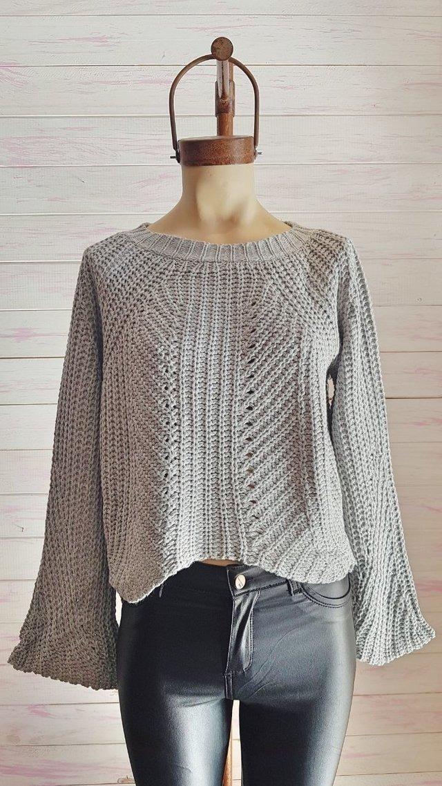 sweater mujer lana grueso mangas oxford otoño invierno 2018. Cargando zoom.