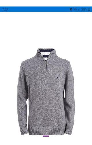 sweater nautica original, talla 14/16 niños, nuevo