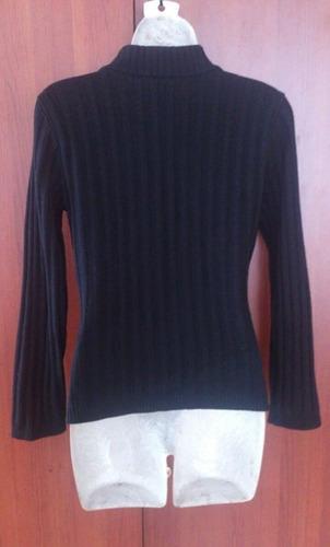 sweater negro de remate talla s