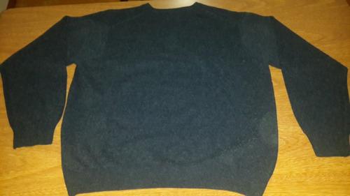 sweater tannery hombre - talle l - color azul - como nuevo