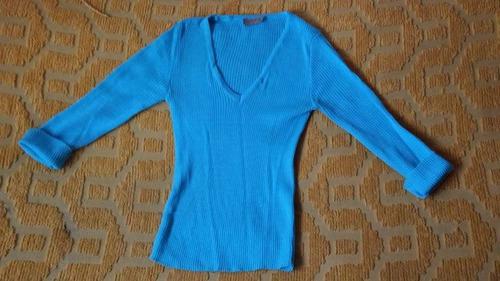 sweater turquesa, talle chico