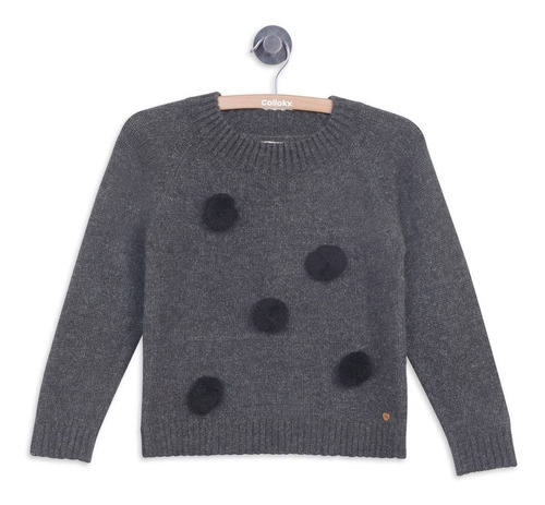 sweater vestir marengo melange niña colloky