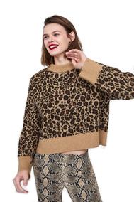 Sweater Zara Lana Leopardo