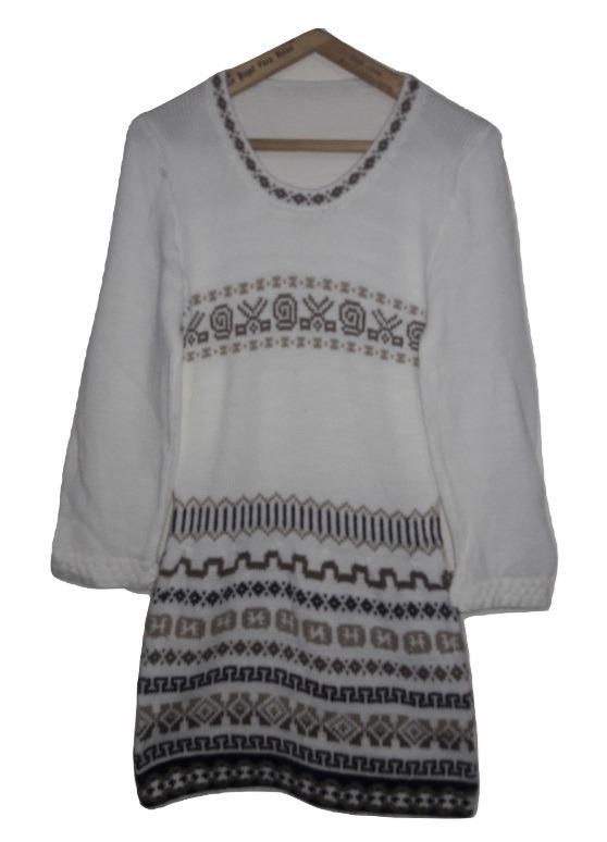 Sweaters Body Pullover De Lana De Alpaca X6 - Barro Cocido 68754b426a46