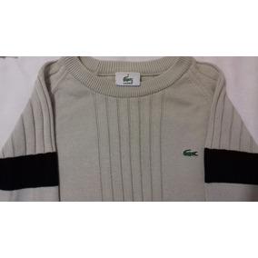 1e2378b938a39 Sweater - Sueter Lacoste Crema azul Original