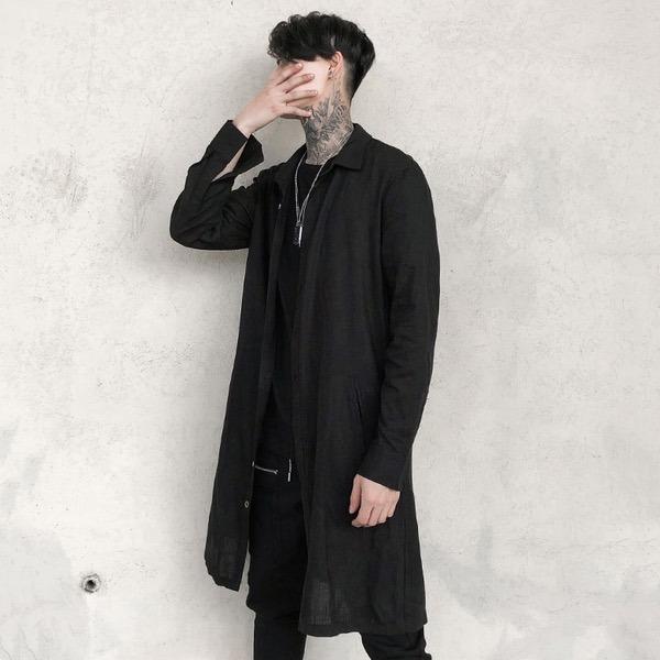 sweaters largos hombre slim fit delgados botones moda urbana