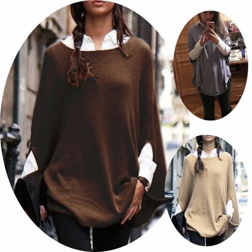 sweaters mujer ponchos de lanilla - envio gratis  - art85