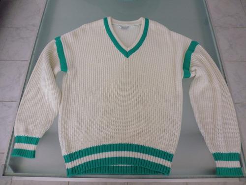 sweaters tejido de lana / toni russo / cuello en v / talla m