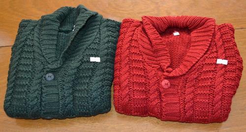 sweaters tejitos 2 colores 8/10 años little treasure