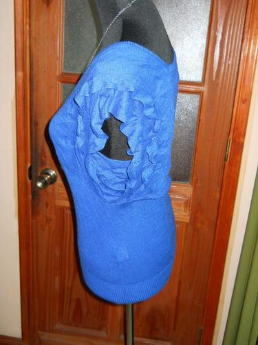 sweaters tipo polera diseño original azul rey