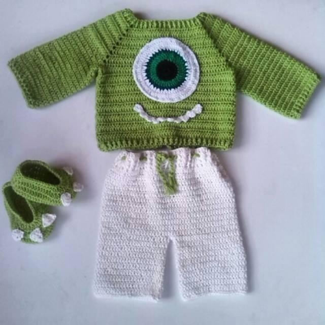 3861397f4 Sweaters, Trajecitos De Bebe Tejidos A Crochet (temáticos) - Bs. 1 ...