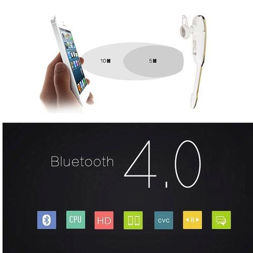 sweatproof bluetooth sports auricular blanco-plata