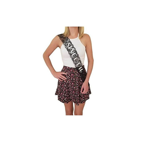sweet 16 lace sash - 16th birthday sash - favor de fiesta de