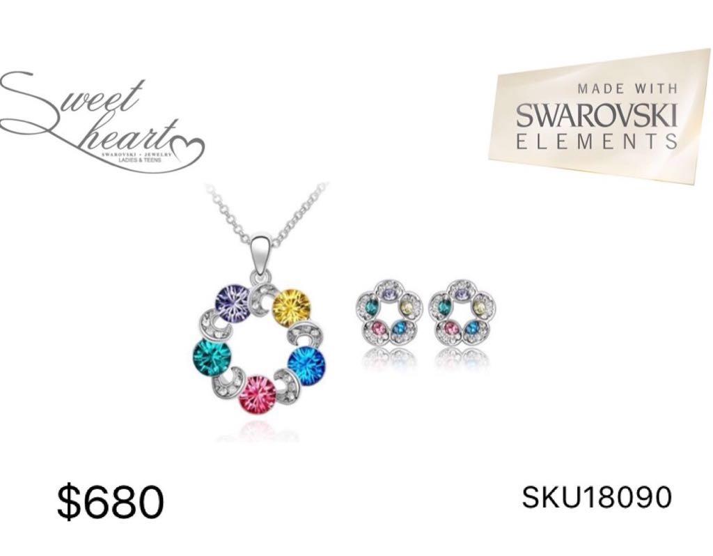 96b522a83613 Sweet Heart Set Aretes Y Collar Swarovski Elements -   680.00 en ...