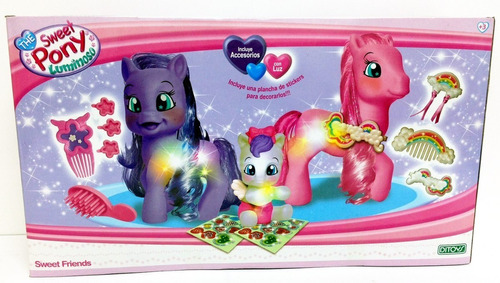 sweet pony luminoso sweet friends incluye accesorios  ditoys