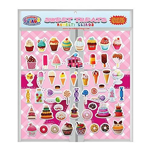 sweet treats por incredible gel y window clings 54 etiquetas