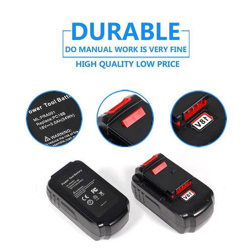 sweetbuy 18v 3.0ah batería reemplazo para herramienta energ