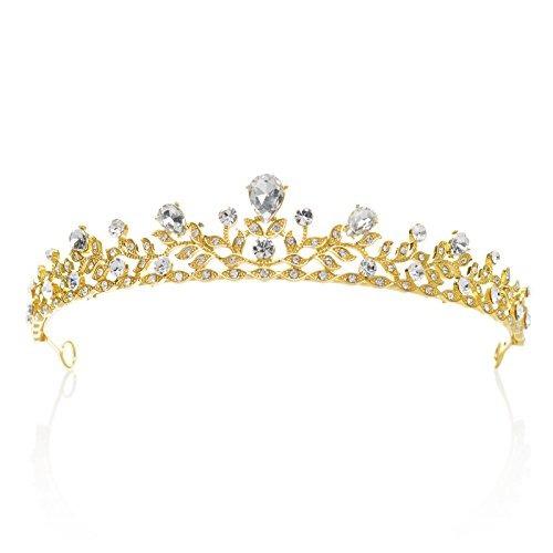 sweetv brillante crystal crown princess tiara rhinestone le