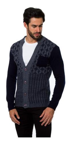 sweter 717 03018 cardigan caballero abierto botones