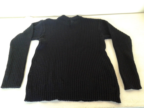 sweter azul oscuro lana talle l