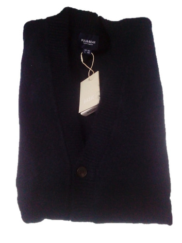 sweter cardigan abierto caballero pull & bear ma