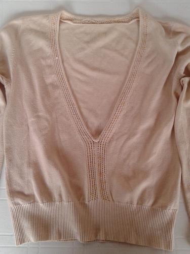 sweter con lentejuelas color piel, talle s