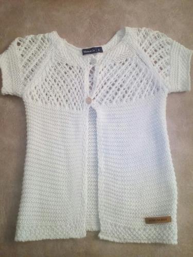 sweter de hilo saquito mimo nena verano