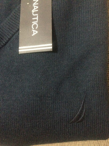 sweter náutica navy algodon pima... único en mercado libre