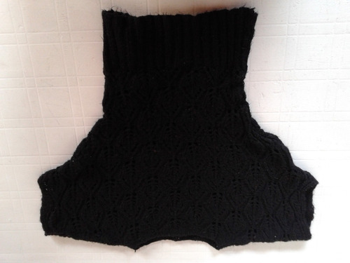 sweter negro lana calado talle m impecable!