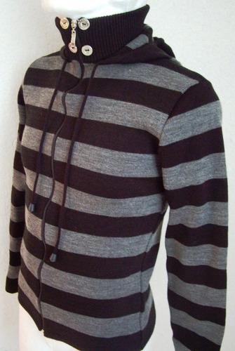 sweter saco chamarra capucha gorro tejido punto invierno