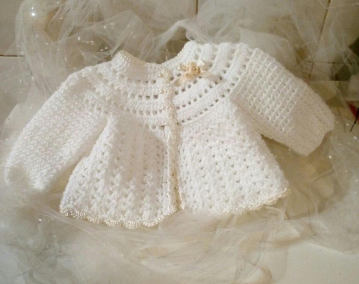 Sweter - Saquito Y Gorrito Para Tu Bb Tejido Al Crochet - $ 550,00 ...