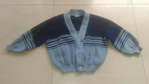 sweter tejido para niño talla 4 usada
