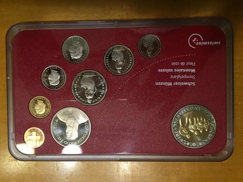swi-s23 set 9 monedas suiza 2003 unc-bu ayff