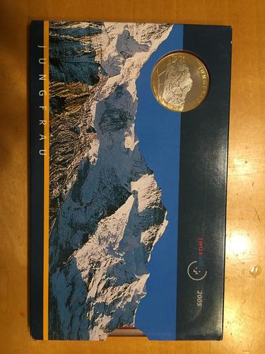 swi-s26 set 9 monedas suiza 2005 unc-bu ayff