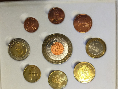 swi-s27 set 9 monedas suiza 2003 pattern prueba ayff