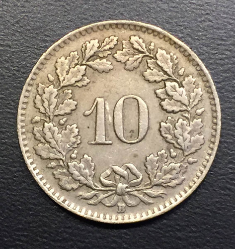 swi241 moneda suiza 10 rappen 1949 vf-xf ayff